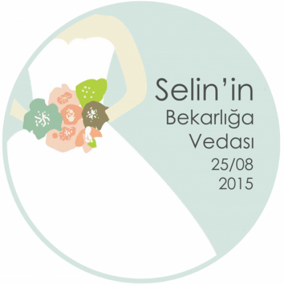 Bekarlığa Veda Sticker- My Hand Bouquet-500x500-1000x1000