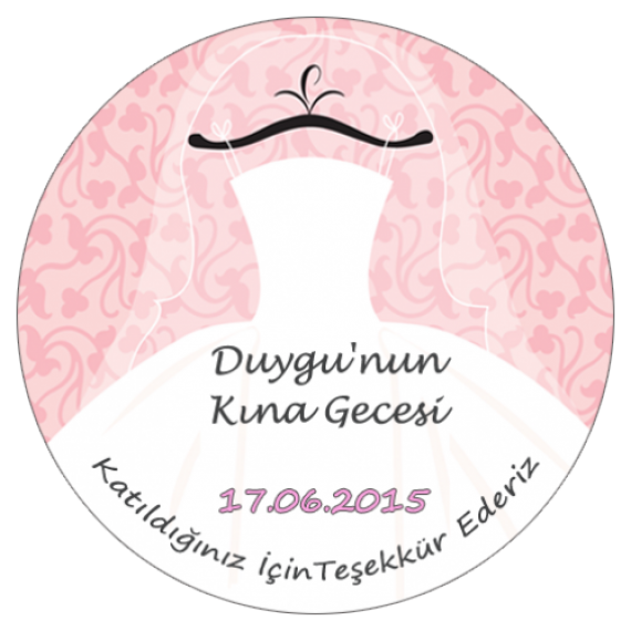 Düğün Sticker- MY weding Gown-500x500-1000x1000